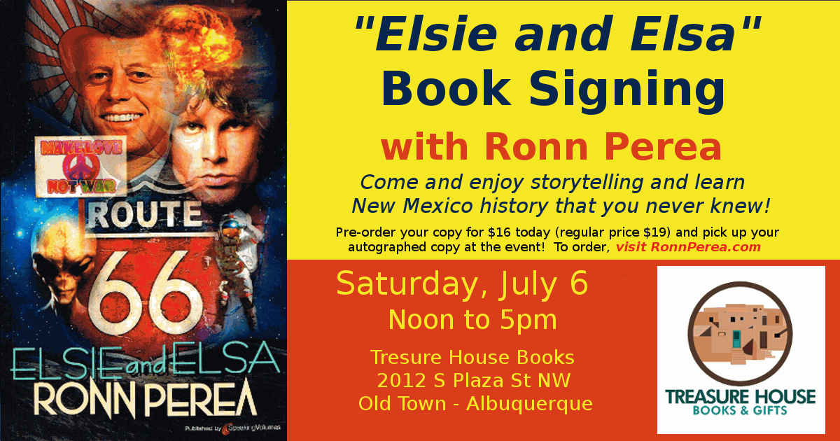 Book Signing Events at Treasure House Old Town Albuquerque